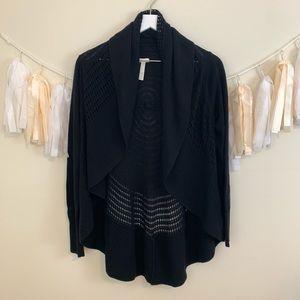 SOMA Soft Black Open Front Cardigan
